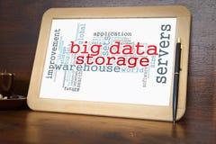 Big data. Blackboard with big data word cloud Stock Photos