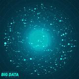 Big data blue visualization. Futuristic infographic. Information aesthetic design. Visual data complexity. Royalty Free Stock Image