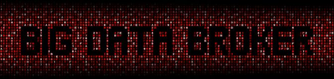 Big Data Broker text on red hex illustration Royalty Free Stock Images