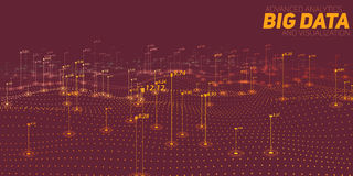 Big data brown plot visualization. Futuristic infographic. Information aesthetic design. Visual data complexity. Stock Photo