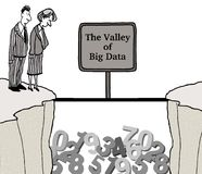 Big Data. Business cartoon about big data.  Valley of Big Data Stock Photo