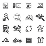 Big Data, Business and Finance Icons Set. Vector icons Stock Image