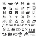 Big Data and business icons set Stock Photo