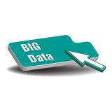 Big data button Stock Images