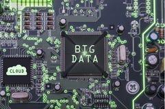 Big data and ccloud stock photo