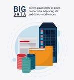 Big data center base and web hosting icon set. Document and file icon. Big data center base and web hosting theme. Colorful design. Vector illustration Stock Photo