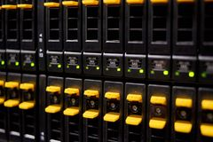 Data center highspeed server storage. Big data center highspeed server storage royalty free stock photography