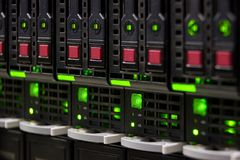 Big data center server storage Royalty Free Stock Photo