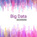 Big Data charts. Colorful abstract geometric business background vector illustration