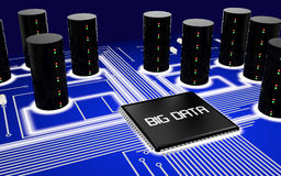 Big data circuit board Stock Photos