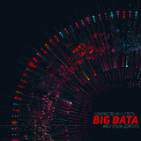 Big data circular colorful visualization. Futuristic infographic. Information aesthetic design. Visual data complexity. Stock Photography