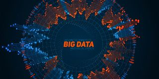 Big data circular visualization. Futuristic infographic. Information aesthetic design. Visual data complexity. Complex data threads graphic. Social network royalty free illustration