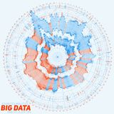 Big data circular visualization. Futuristic infographic. Information aesthetic design. Visual data complexity. Complex. Data threads graphic. Social network Stock Photos