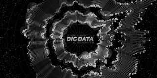 Big data circular visualization. Futuristic infographic. Information aesthetic design. Visual data complexity. Complex. Data threads graphic. Social network Royalty Free Stock Photography
