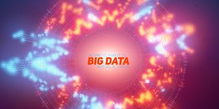 Big data circular visualization. Futuristic infographic. Information aesthetic design. Visual data complexity. Complex. Data threads graphic. Social network Stock Images