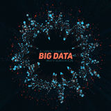 Big data circular visualization. Futuristic infographic. Information aesthetic design. Visual data complexity. Complex data threads graphic visualization Stock Image