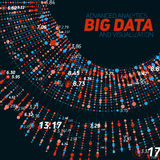 Big data circular visualization. Futuristic infographic. Information aesthetic design. Visual data complexity. Complex data threads graphic visualization Royalty Free Stock Image