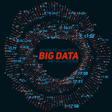 Big data circular visualization. Futuristic infographic. Information aesthetic design. Visual data complexity. Complex data threads graphic visualization Stock Photos