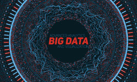Big data circular visualization. Futuristic infographic. Information aesthetic design. Visual data complexity. Stock Photo