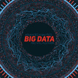 Big data circular visualization. Futuristic infographic. Information aesthetic design. Visual data complexity. Complex data threads graphic visualization Stock Photo