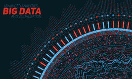 Big data circular visualization. Futuristic infographic. Information aesthetic design. Visual data complexity. Complex data threads graphic visualization Stock Photography