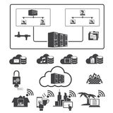 Big data, Cloud computing Royalty Free Stock Photography