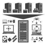 Big data, Cloud computing Stock Images