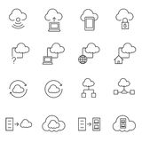 Big Data. Cloud computing icons set. Line icon Royalty Free Stock Photo