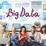Big Data Cloud Digital Information Technology Concept.  Royalty Free Stock Image