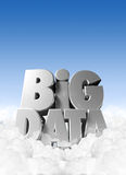 Big Data In Clouds royalty free illustration