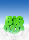 Big Data In Clouds vector illustration