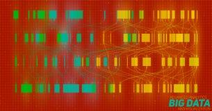 Big data colorful visualization. Futuristic infographic. Information aesthetic design. Visual data complexity. Stock Photo