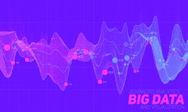 Big data colorful visualization. Futuristic infographic. Information aesthetic design. Visual data complexity. Stock Images