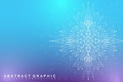 Big data complex. Graphic abstract background communication. Perspective backdrop visualization. Analytical network. Vector illustration Vector Illustration