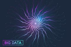 Big data complex. Graphic abstract background communication. Perspective backdrop visualization. Analytical network. Vector illustration royalty free illustration