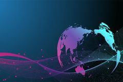Big data complex. Graphic abstract background communication. Perspective backdrop visualization. Analytical network. Vector illustration Stock Illustration