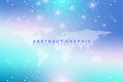 Big data complex. Graphic abstract background communication. Royalty Free Stock Photography