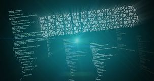 Big data concept green. Big data and computer programming code on green background. Abstract concept of information, cyberspace and technology business Stock Photos