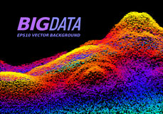 Big Data concept. Abstract vector background Royalty Free Stock Photos