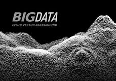 Big Data concept. Abstract vector background Royalty Free Stock Photography
