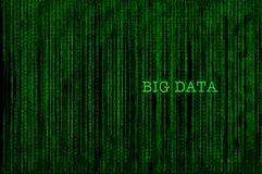 Big data concept and binary code decimal idea Stock Photography
