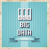 Big Data Concept on Blue in Flat Design. Royalty Free Stock Photography