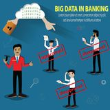 Big data concept,Cloud technology and big data used in banking. Big data concept,Cloud technology and big data used in banking - Vector Illustration Royalty Free Stock Image