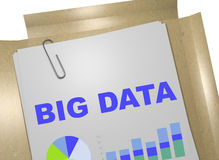 Big Data concept. 3D illustration of BIG DATA title on business document Royalty Free Stock Photography