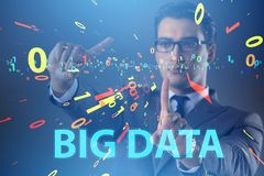 The big data concept with data mining analyst. Big data concept with data mining analyst royalty free stock image