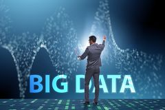 The big data concept with data mining analyst. Big data concept with data mining analyst royalty free stock photography