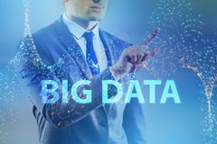 The big data concept with data mining analyst. Big data concept with data mining analyst royalty free stock images