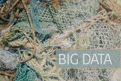 Big Data. Concept expressed with fishing nets royalty free stock images