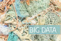 Big Data. Concept expressed with fishing nets stock photography