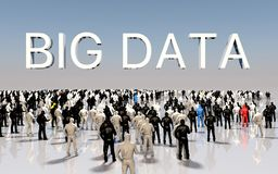 Big Data Concept. Futuristic connect people. Database. 3d illustration Stock Image